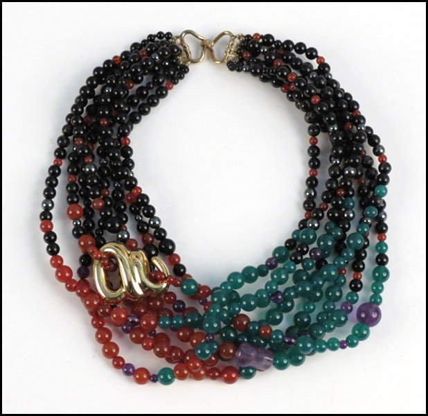 467013: KAI-YIN LO MULTI-STRAND NECKLACE.