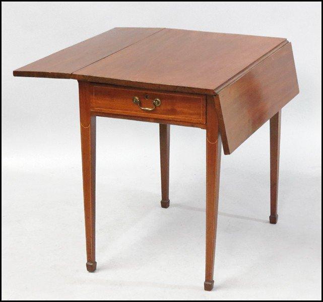 1061011: HEPPLEWHITE MAHOGANY PEMBROKE TABLE.