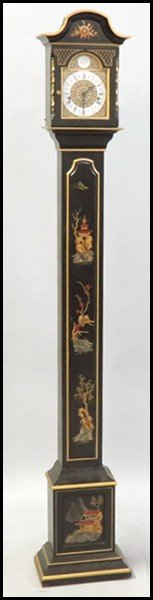 1061012: TEMPUS FUGIT CHINOISERIE STYLE TALL CASE CLOCK