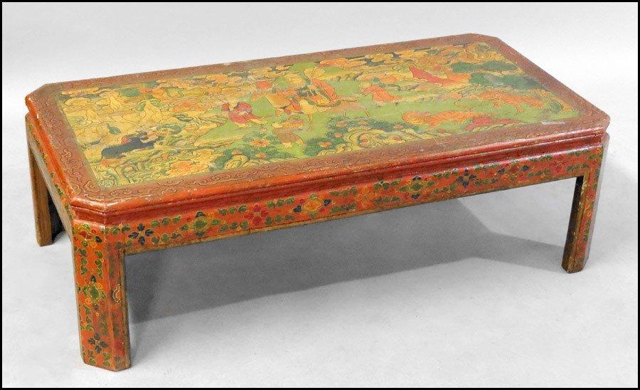 1061015: TIBETAN COCKTAIL TABLE.