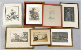 1066051 GROUP OF ASSORTED FRAMED PRINTS  DECORATIVE W