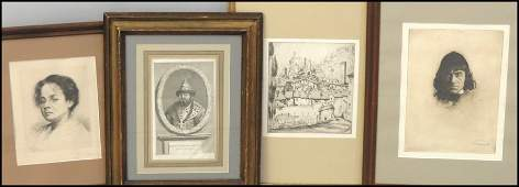 1066193 GROUP OF FOUR FRAMED ASSORTED PRINTS