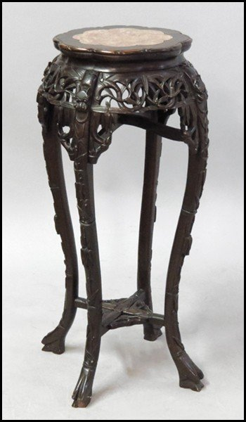 1073001: CHINESE CARVED PEDESTAL.