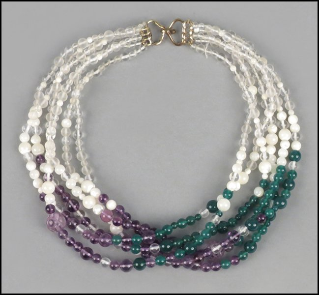 487007: KAI-YIN LO MULTI-STRAND NECKLACE.