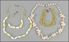 487014: MIRIAM HASKELL FIVE-STRAND NECKLACE.