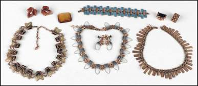 487033 GROUP OF COPPER JEWELRY