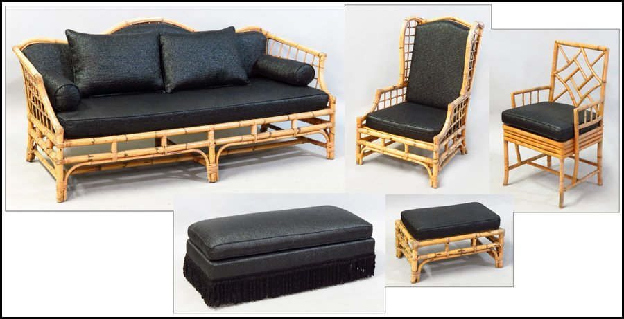 1101016: SUITE OF BAMBOO FURNITURE.