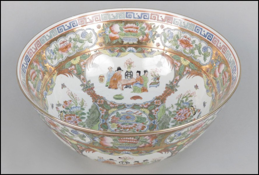 1103028: CHINESE FAMILLE ROSE STYLE PORCELAIN BOWL. - 2