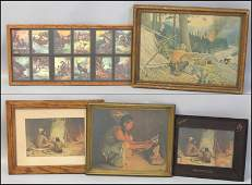 1106045 GROUP OF FIVE ASSORTED FRAMED DECORATIVE PRINT