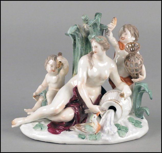 1112002: MEISSEN PORCELAIN FIGURAL GROUP.