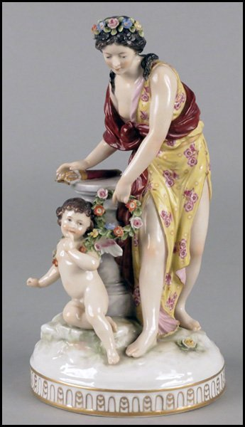 1112003: CAPODIMONTE PORCELAIN FIGURAL GROUP.