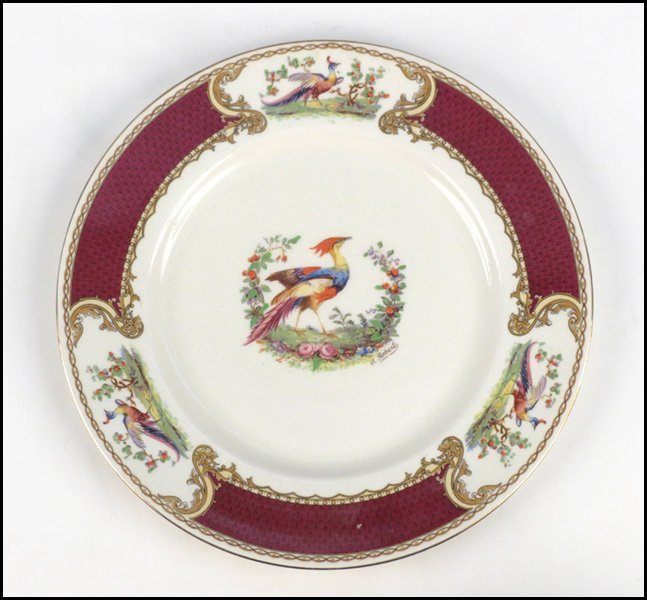 1112018: SET OF THIRTEEN MYOTT STAFFORDSHIRE PLATES IN