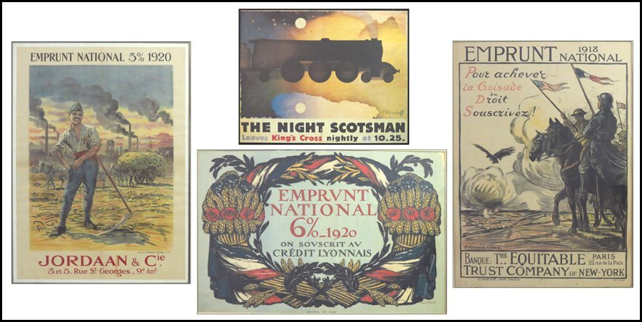 1116132: GROUP OF THREE EMPRUNT NATIONAL FRAMED POSTERS