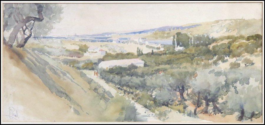 1116151: JOSEPH PENNELL (1857-1926) TUSCANY LANDSCAPE.