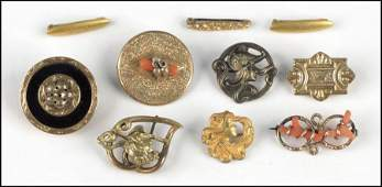 1117347 GROUP OF VICTORIAN GOLD FILLED BROOCHES