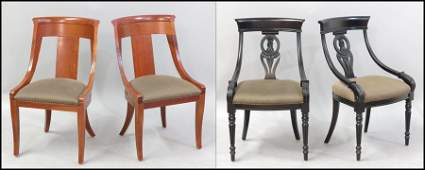 1121081 PAIR OF BAKER PALLADIAN CHAIRS