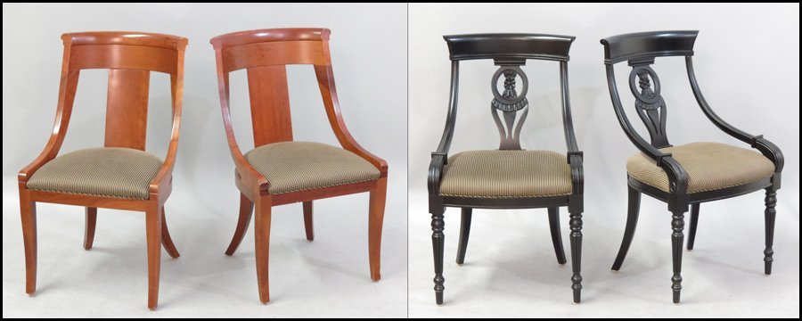 1121081: PAIR OF BAKER PALLADIAN CHAIRS.