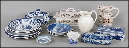 1122254 COLLECTION OF BLUE AND WHITE PORCELAIN TABLE I