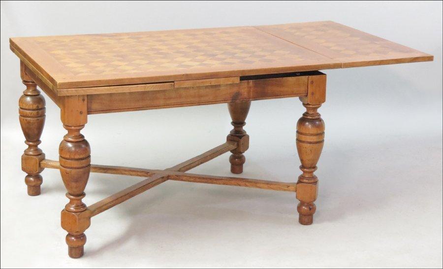 1131009: OAK DRAW LEAF TABLE.