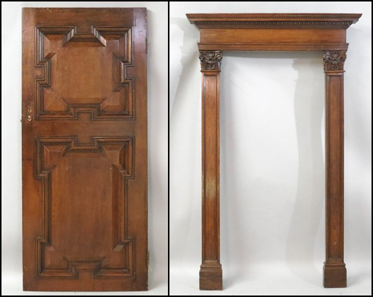 1131018: CARVED DOOR AND FRAME.