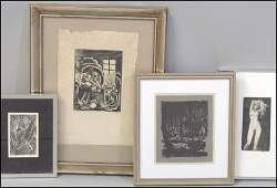 1136129 GROUP OF FOUR ASSORTED FRAMED PRINTS