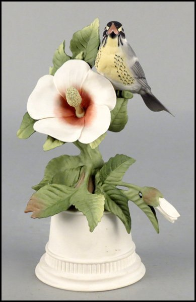 1142004: BOEHM BISQUE PORCELAIN, YELLOW THROATED WARBLE