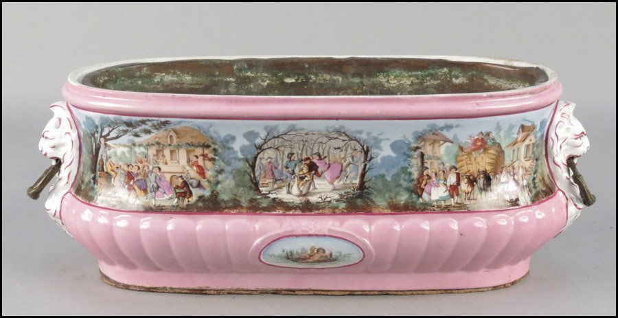 1142016: FRENCH GILT AND TRANSFER DECORATED PORCELAIN J
