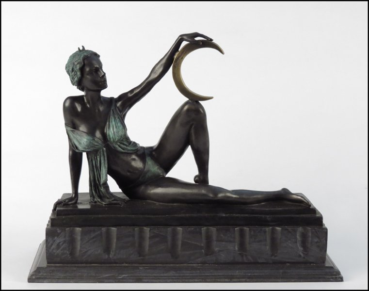 1142075: BRONZE FEMALE FIGURE.