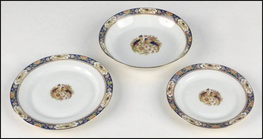 1142077: VIGNAUD LIMOGES PORCELAIN PARTIAL TABLE SERVIC