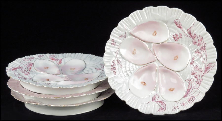 1142080: SET OF FOUR CONTINENTAL PAINTED AND GILT PORCE