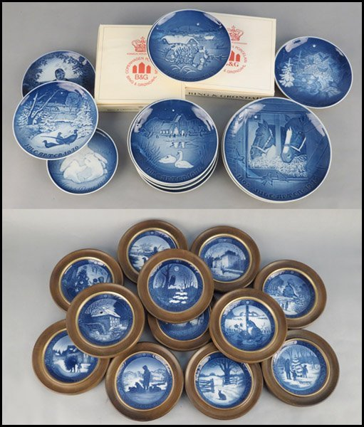 1142088: COLLECTION OF DANISH PORCELAIN PLATES.
