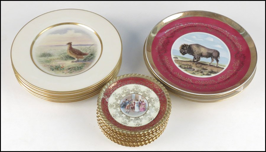 1142093: SET OF SEVEN LENOX PORCELAIN PLATES.