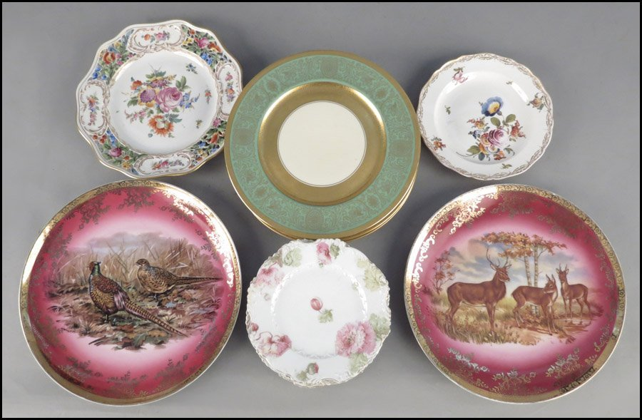 1142095: SET OF SIX GERMAN PORCELAIN PLATES.
