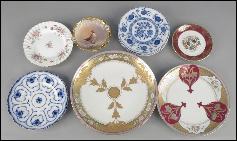 1142097: SET OF FIVE ALLERTON PORCELAIN PLATES IN THE O