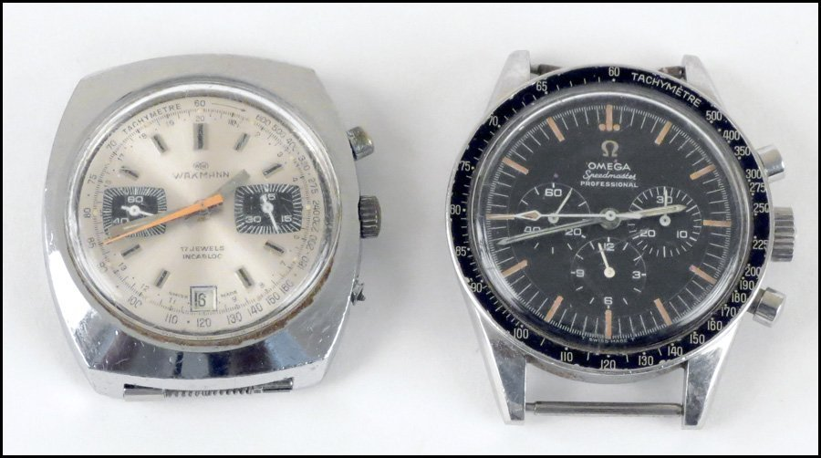 1147132: OMEGA STAINLESS STEEL SPEEDMASTER WATCH.