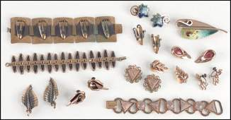 497036 GROUP OF COPPER JEWELRY