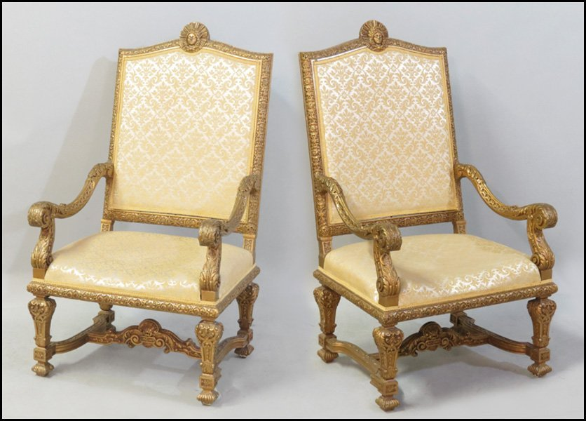 1151025: PAIR OF LOUIS XIV STYLE GESSO AND GILTWOOD OPE