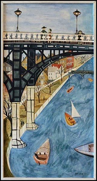 1166001: ELLEN LANYON (AMERICAN, B. 1926) ALONG THE RIV