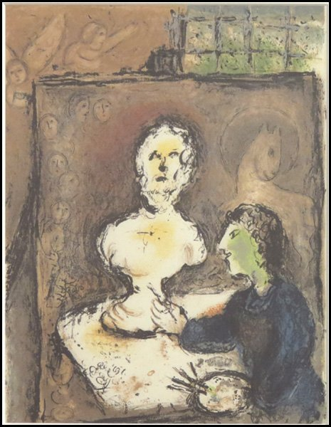 1166005: AFTER MARC CHAGALL HOMER, L'ODYSSEE FRONTISPIE