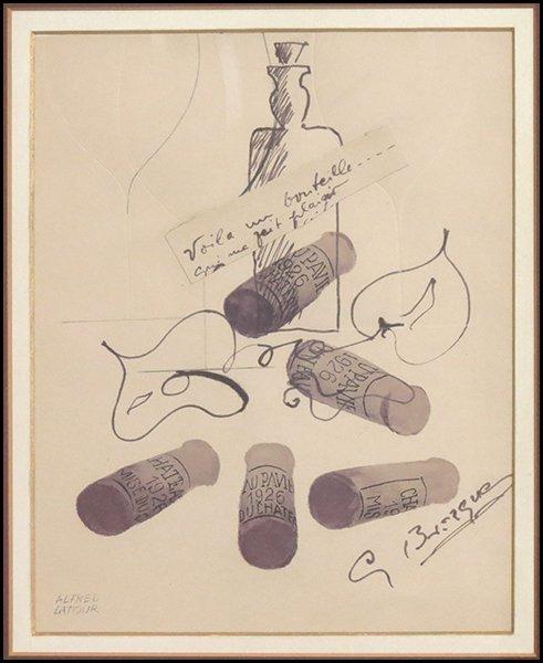 1166007: GEROGE BRAQUE (1882-1963) VOILA UN BOUTEILLE.