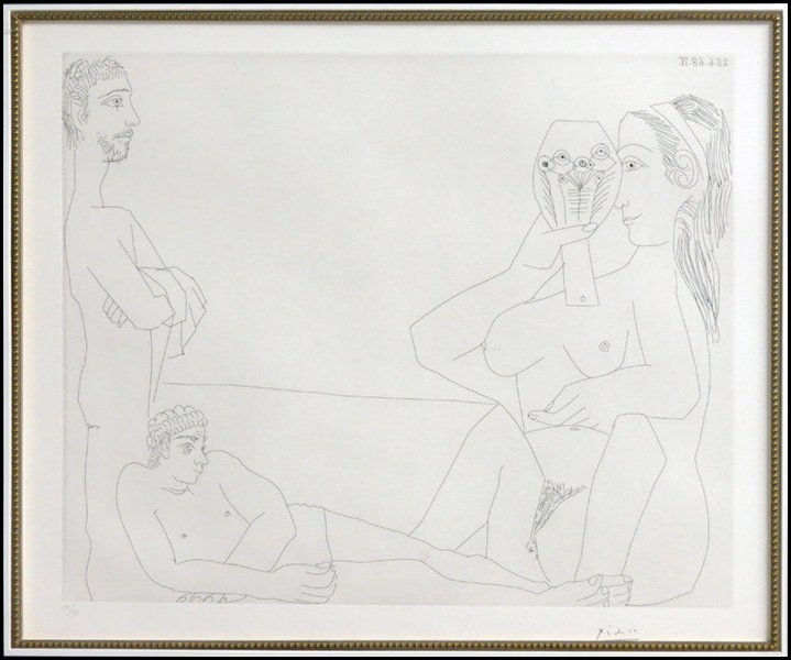 1166009: PABLO PICASSO (SPANISH, 1881-1973) AT THE BEAC