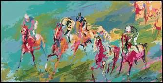 1166010: LEROY NEIMAN (1921-2012) THE HORSE RACE.