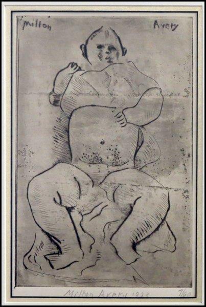 1166015: MILTON AVERY (AMERICAN 1885-1965) BABY AVERY.