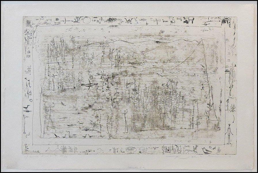 1166022: ZAO WOU-KI (CHINESE/FRENCH, B.1921) FLORE ET F
