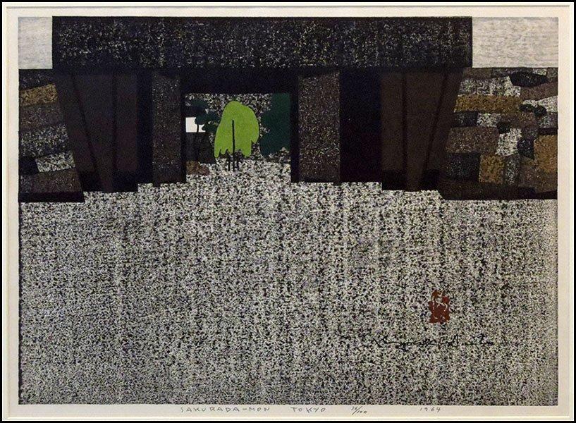 1166023: KIYOSHI SAITO (JAPANESE 1907-1997) SAKURADA-MO