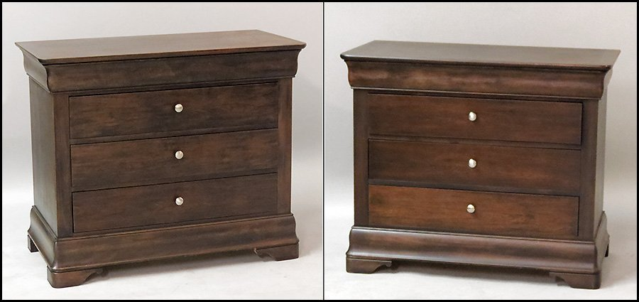1171002: PAIR OF MOUNT AIRY FOUR DRAWER CHESTS.
