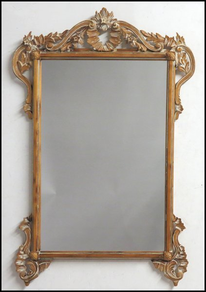 1171008: CARVED PINE MIRROR.