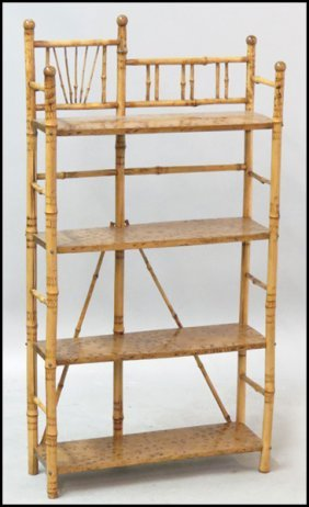1171011: VICTORIAN STYLE BAMBOO ETAGERE.