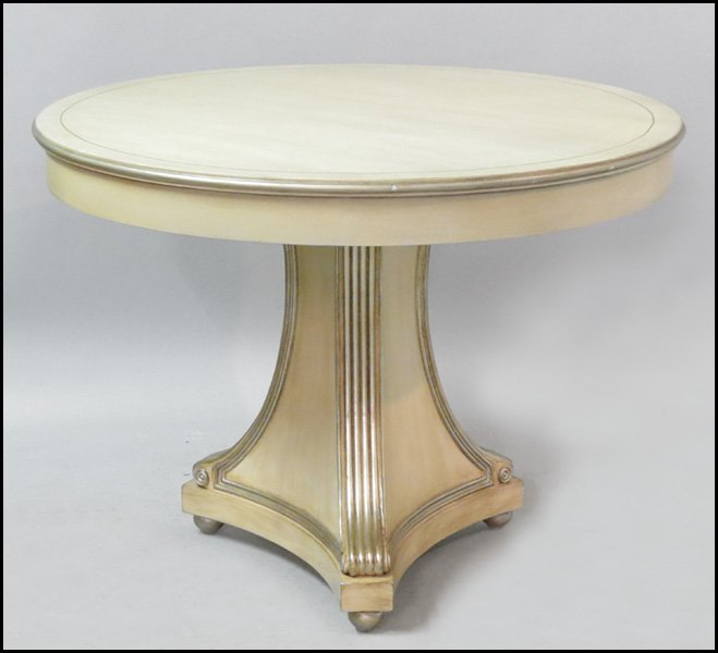 1171015: PAIR OF CONTEMPORARY ROUND PEDESTAL TABLES.