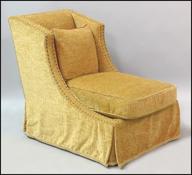 1171022: PAIR OF LEE JOFFA UPHOLSTERED CHAIRS.